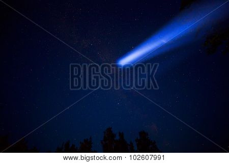 Comet in night sky