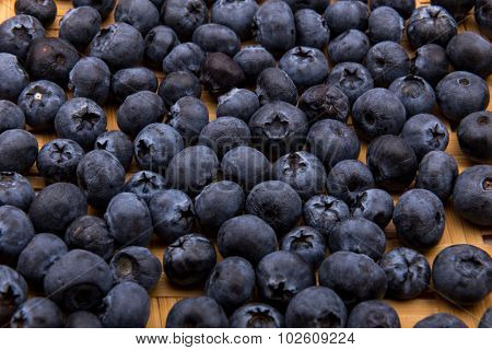 heap of blueberries isolated on white background poster