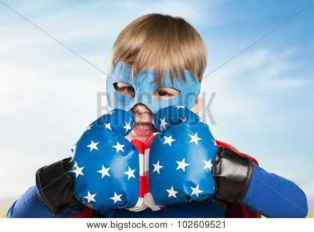 Kid superhero.
