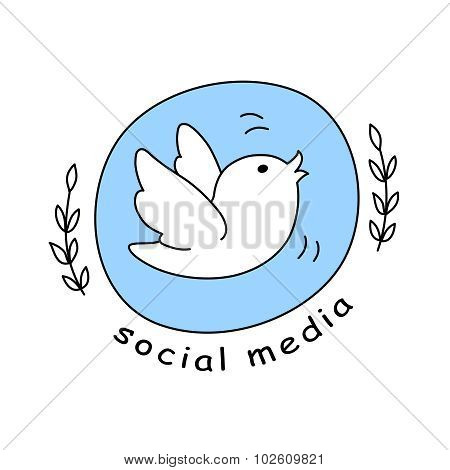 Social Media Icon, Emblem, Logo, Badge