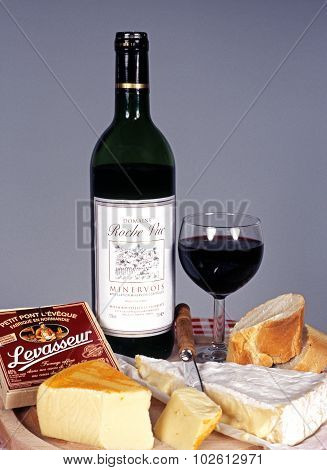 French cheese and wine.