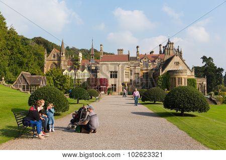 People visiting Tyntesfield House near Bristol Somerset England UK
