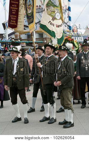 Traditional Lederhosen Costumes At The Oktoberest