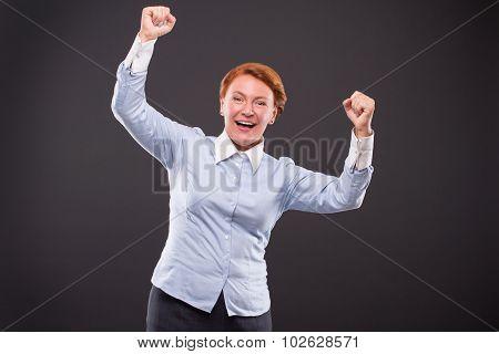 Smiling businesslady