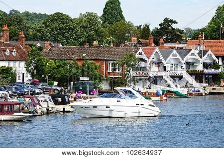 River and buildings, Henley-on-Thames.