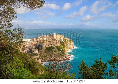 View Of Gaeta And The Sea From The Hill