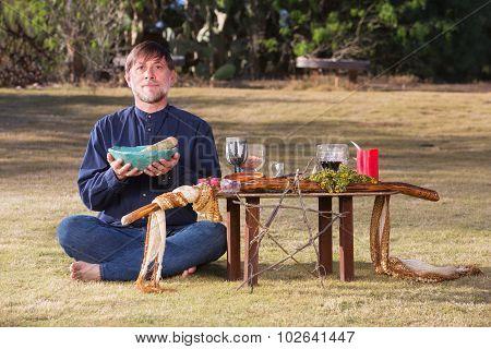 Single Male At Pagan Altar