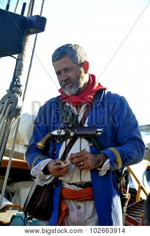 Sailor Decorated With Ancient Garment