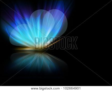 abstract butterfly-shaped