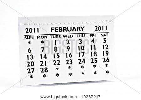 February 2011 - Calendar.