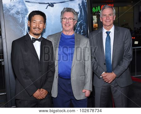 LOS ANGELES - SEP 09:  Ang Phula Sherpa, Dr Beck Weathers & David Breashears