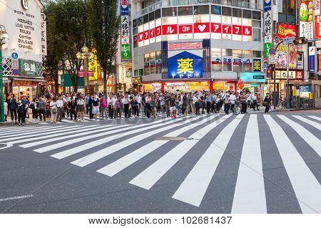 Shinjuku Tokyo Japan-september 11 : Shinjuku Important Landmark And Shopping Area In Heart Of Tokyo