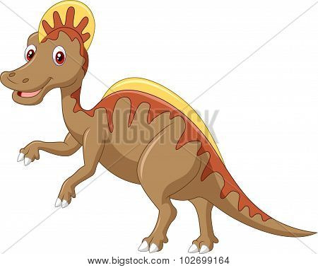 Aggressive Cretaceous dinosaur Spinosaurus or spiny lizard isolated on white background