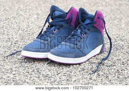 new stylish female shoes outdoors