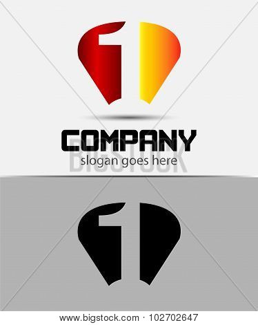 Vector sign number 1 logo