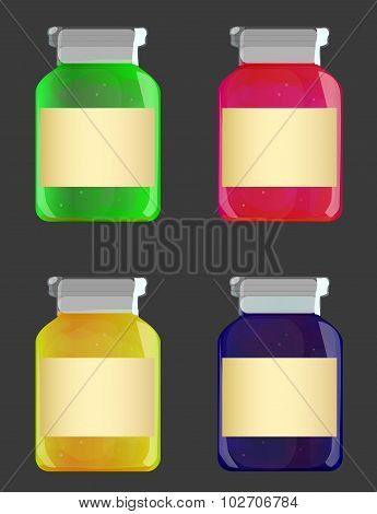Glass Jars With Jam