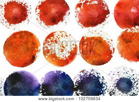 Watercolor Freehand Splotches