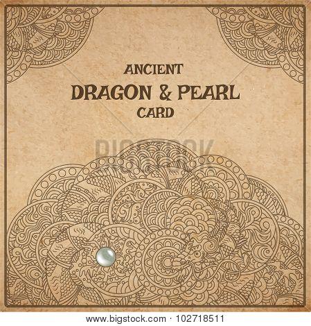 Dragon Parchment Card