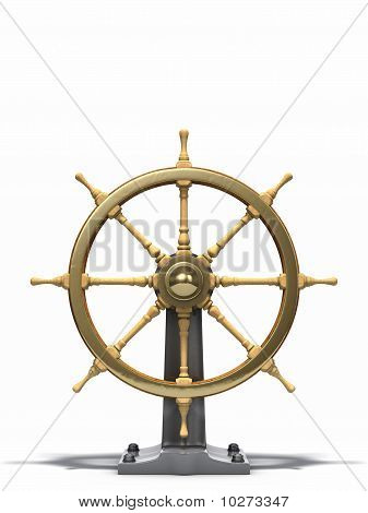 Old ship wheel