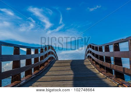 Bridge in Levkas city on Lefkada island in Greece