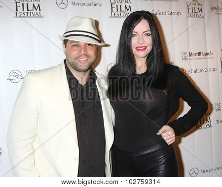 LOS ANGELES - SEP 24:  Ron Truppa, Ivanna Cadaver at the Catalina Film Festival Craven Horrow Reception at the Hotel Metropole on September 24, 2015 in Avalon, CA