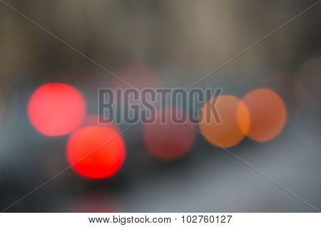 Abstract Background With De-focused Lights