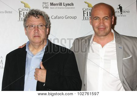 LOS ANGELES - SEP 24:  Larry Estes, Billy Zane at the Catalina Film Festival Opening Night Feature -- West of Redemption at the Lancer Auditorium on September 24, 2015 in Avalon, CA
