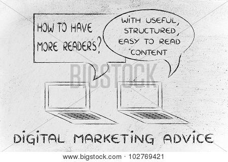 Digital Marketing Advice: Focus On Useful Readable Content