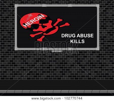 Drug abuse warning Advertising board