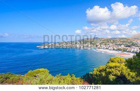 Summer Landscape Of Mediterranean Sea Coast