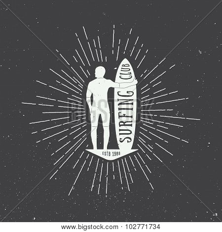 Surfing Logo, Label Or Badge.