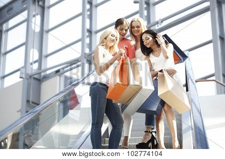 Women In Shopping Mall
