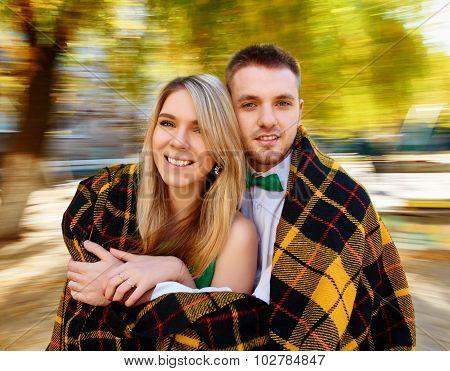 couple autumn portrait