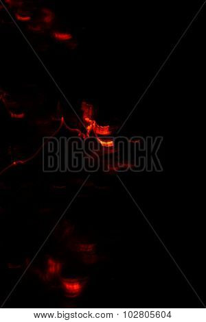 Abstract Blurred Background Fire On Black