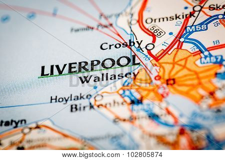 Liverpool City On A Road Map