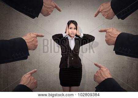 Concept Of Accused Business Woman