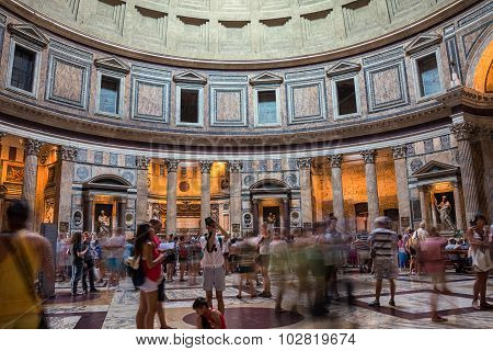 Interiors Of Pantheon In Rome