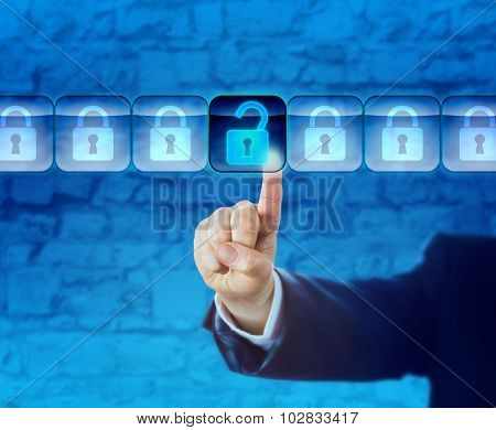Unlocking An Information Packet In A Data Stream