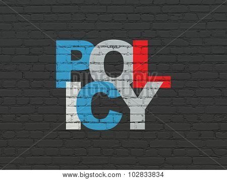 Insurance concept: Policy on wall background