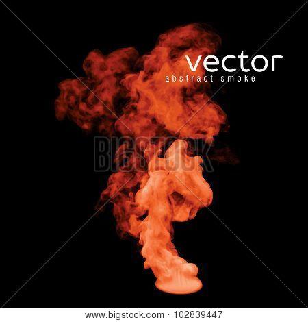 Vector Illustration Of Orange Smoke