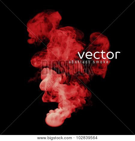Vector Illustration Of Red Smoke