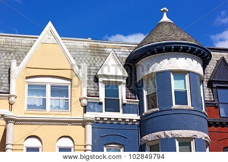 Details of residential architecture of Washington DC, USA.