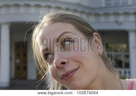 Woman With Bemused Gaze