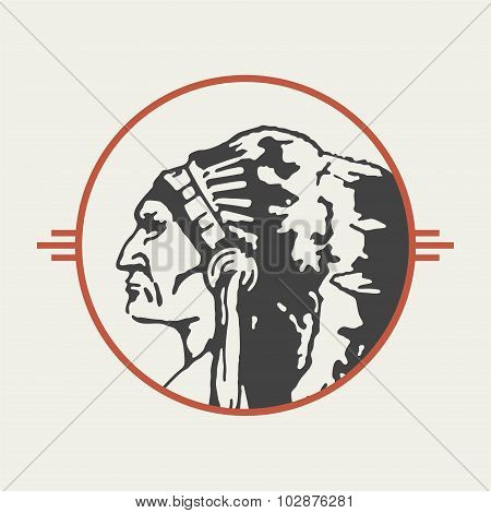 Native American Chieftain Vector
