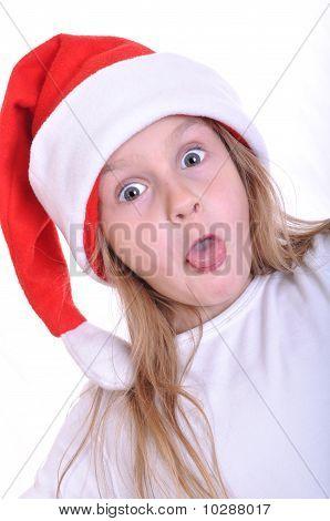 Surprised Santa Child