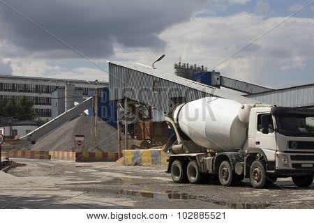 Concrete or cement factory