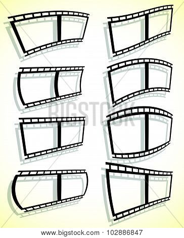 Black And White Filmstrip, Photo Strip Vector Graphics.
