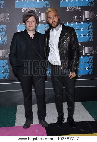 LOS ANGELES - AUG 30:  Patrick Stump & Pete Wentz 2015 MTV Video Music Awards - Arrivals  on August 30, 2015 in Hollywood, CA