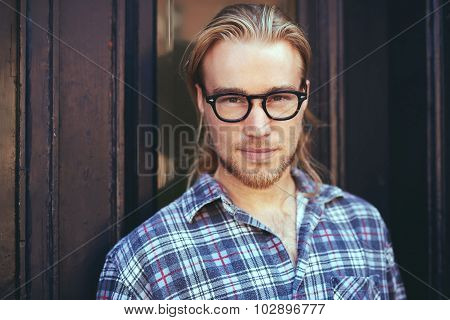 Closeup Portrait Of Blond Man