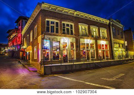 Old Town Bisbee Arizona At Night